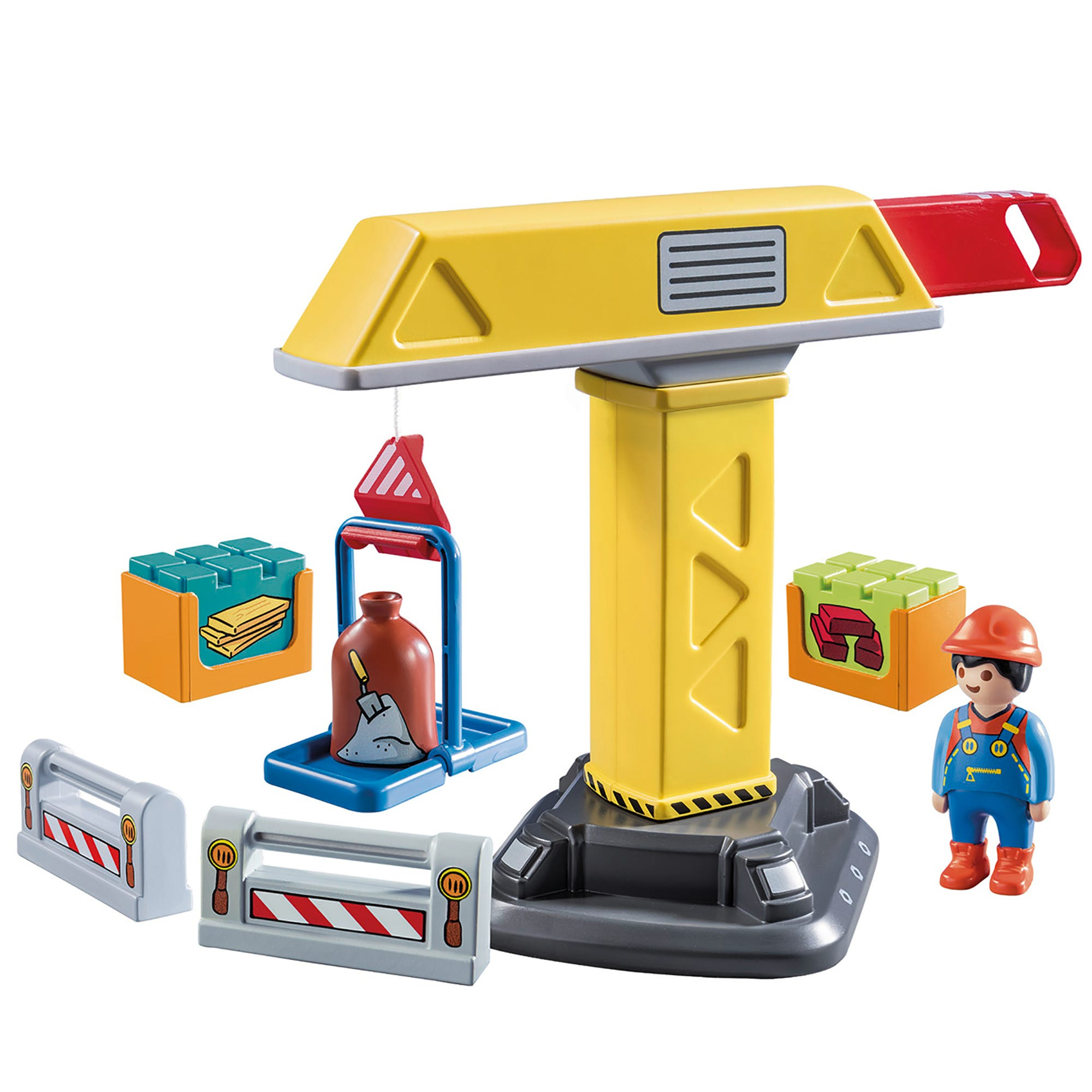 Playmobil 70165 1.2.3 Construction Crane