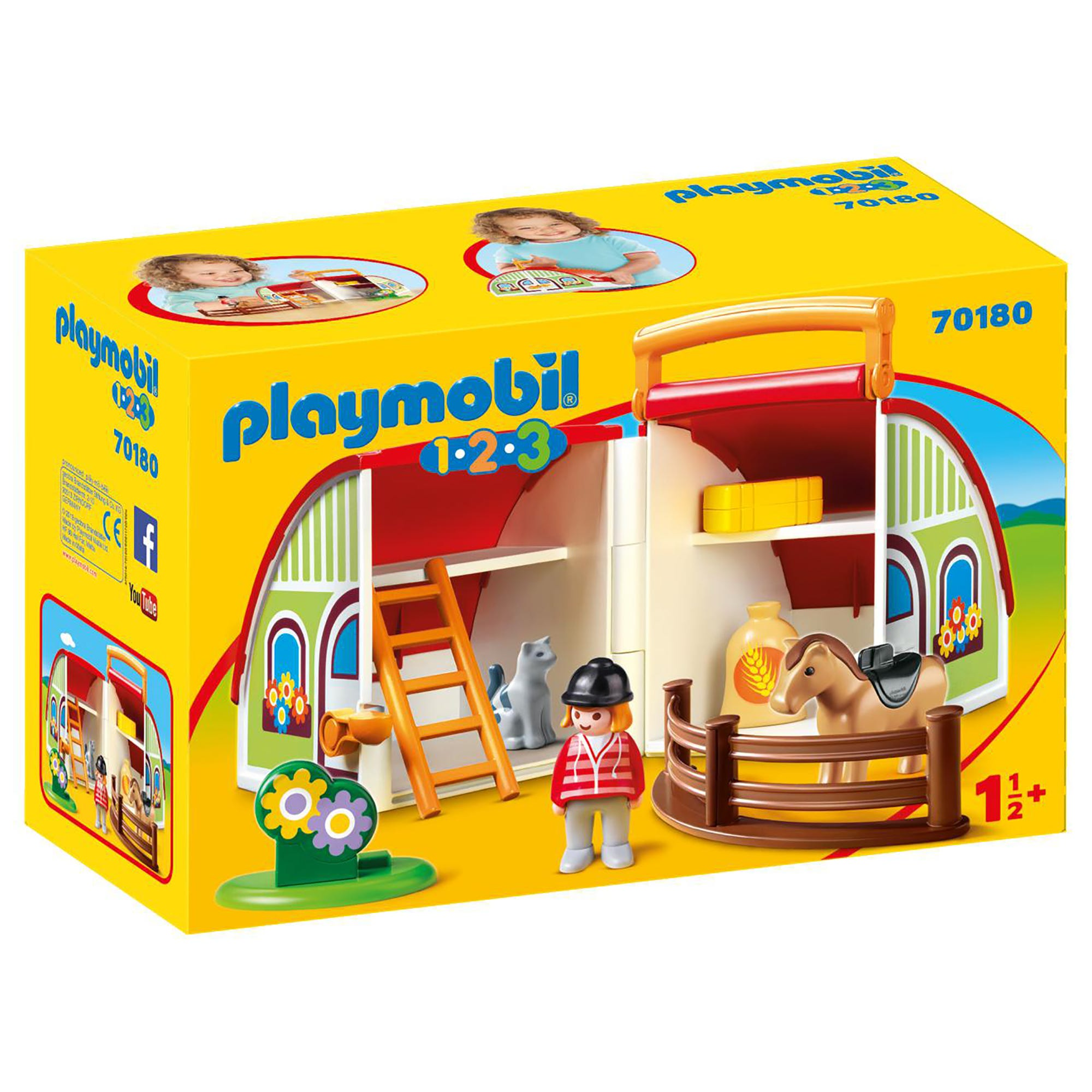 Playmobil 70180 1.2.3 My Take Along Farm