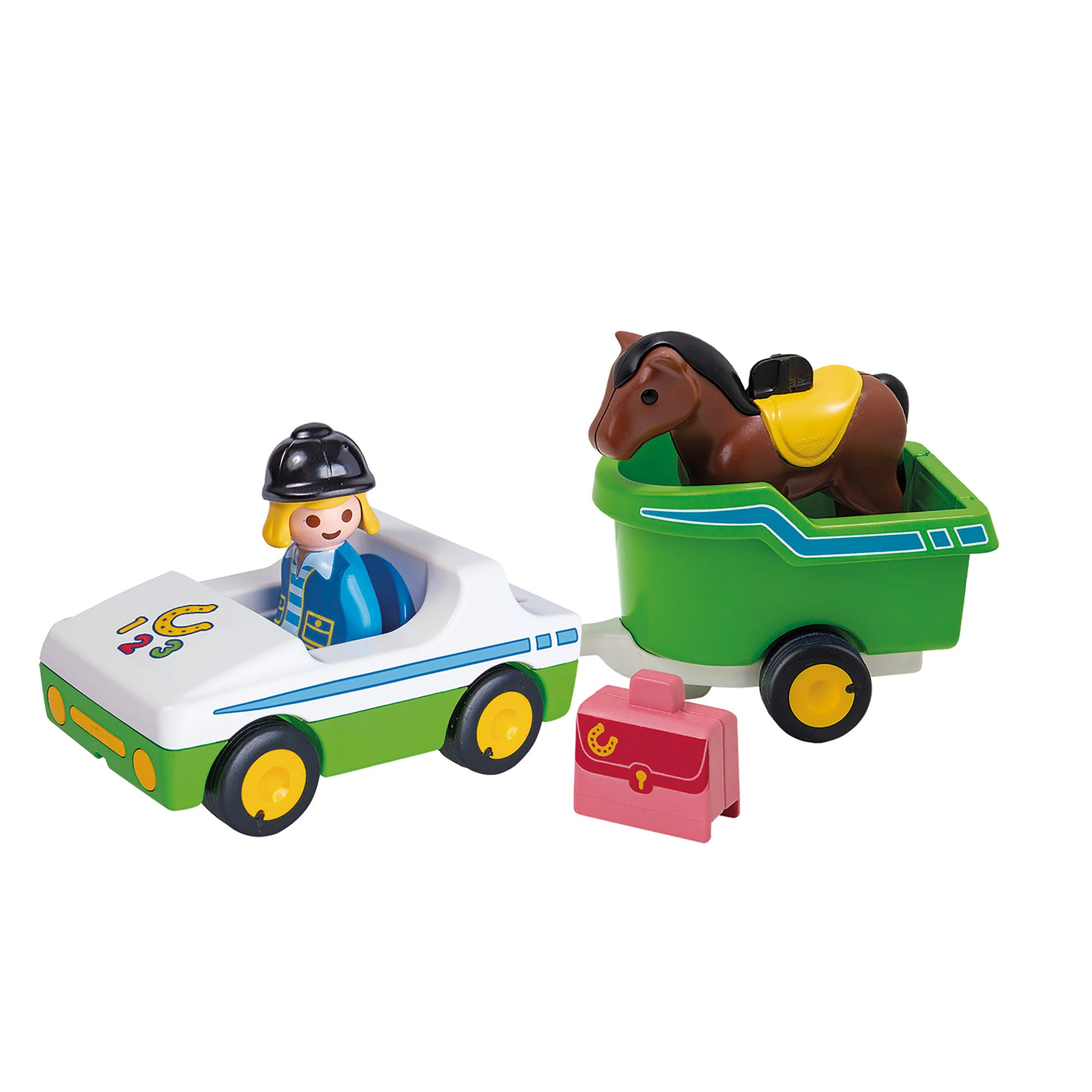 Playmobil 70181 1.2.3 Car With Horse Trailer