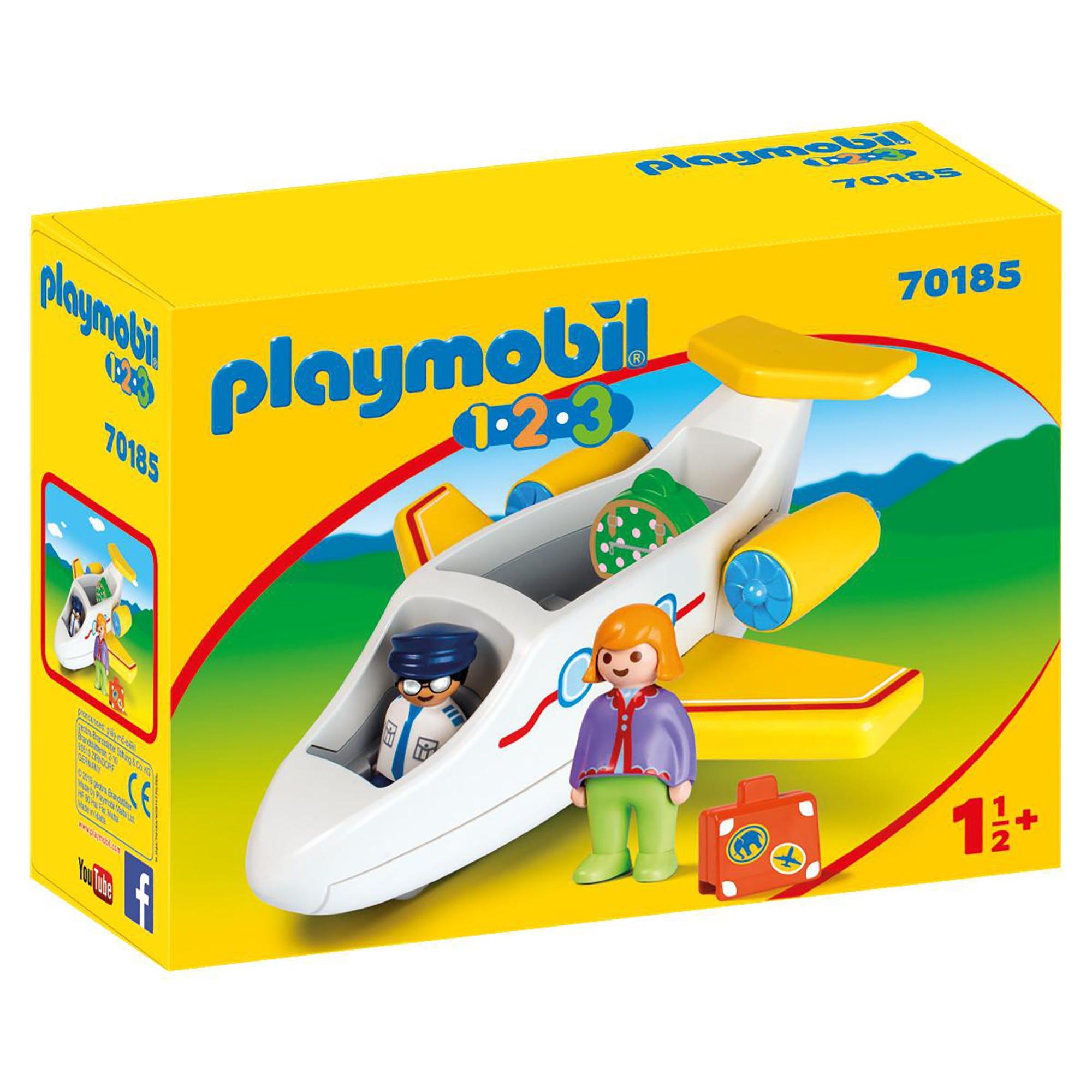 Playmobil 70185 1.2.3 Airplane with Passenger