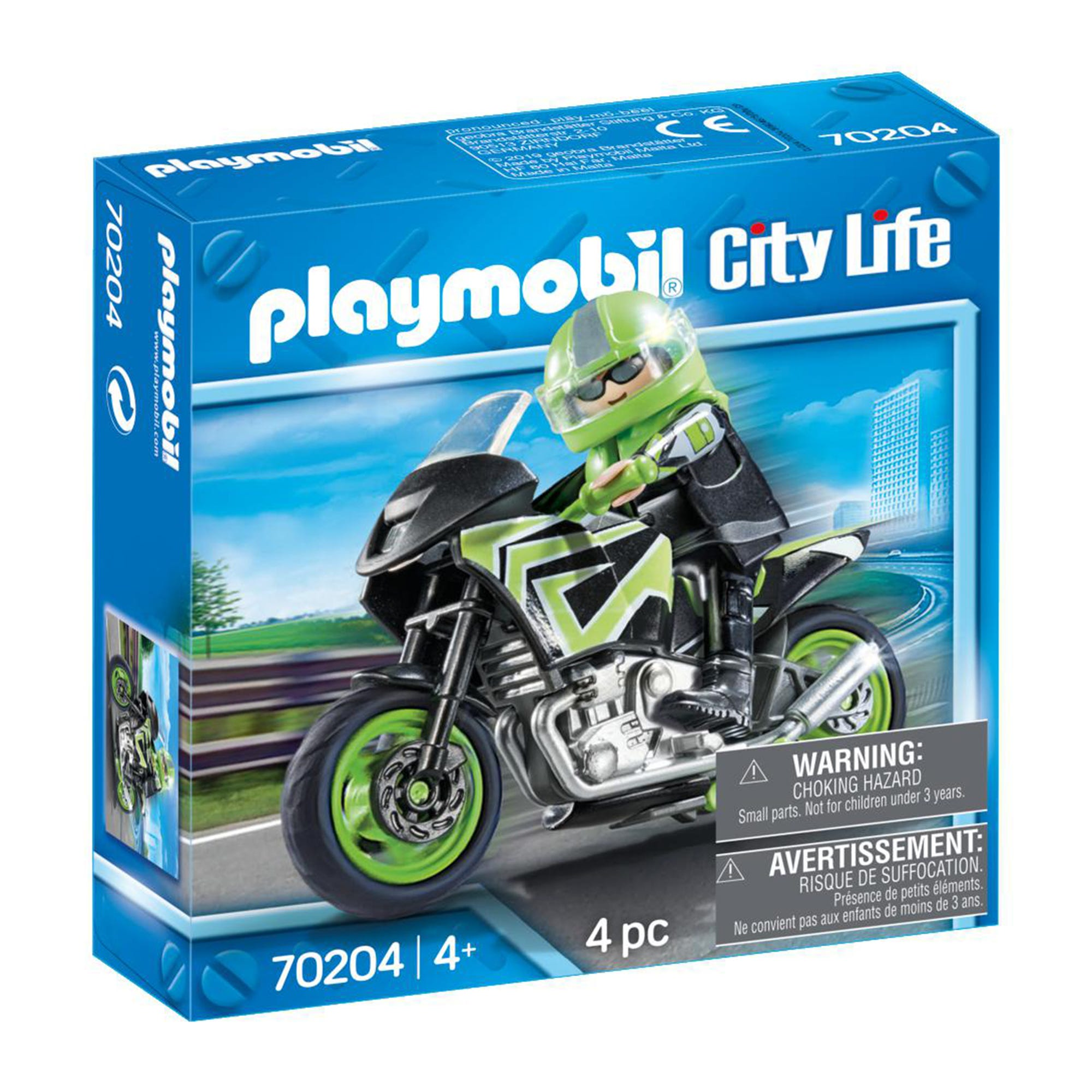 Playmobil 70204 City Life Motorcycle With Rider