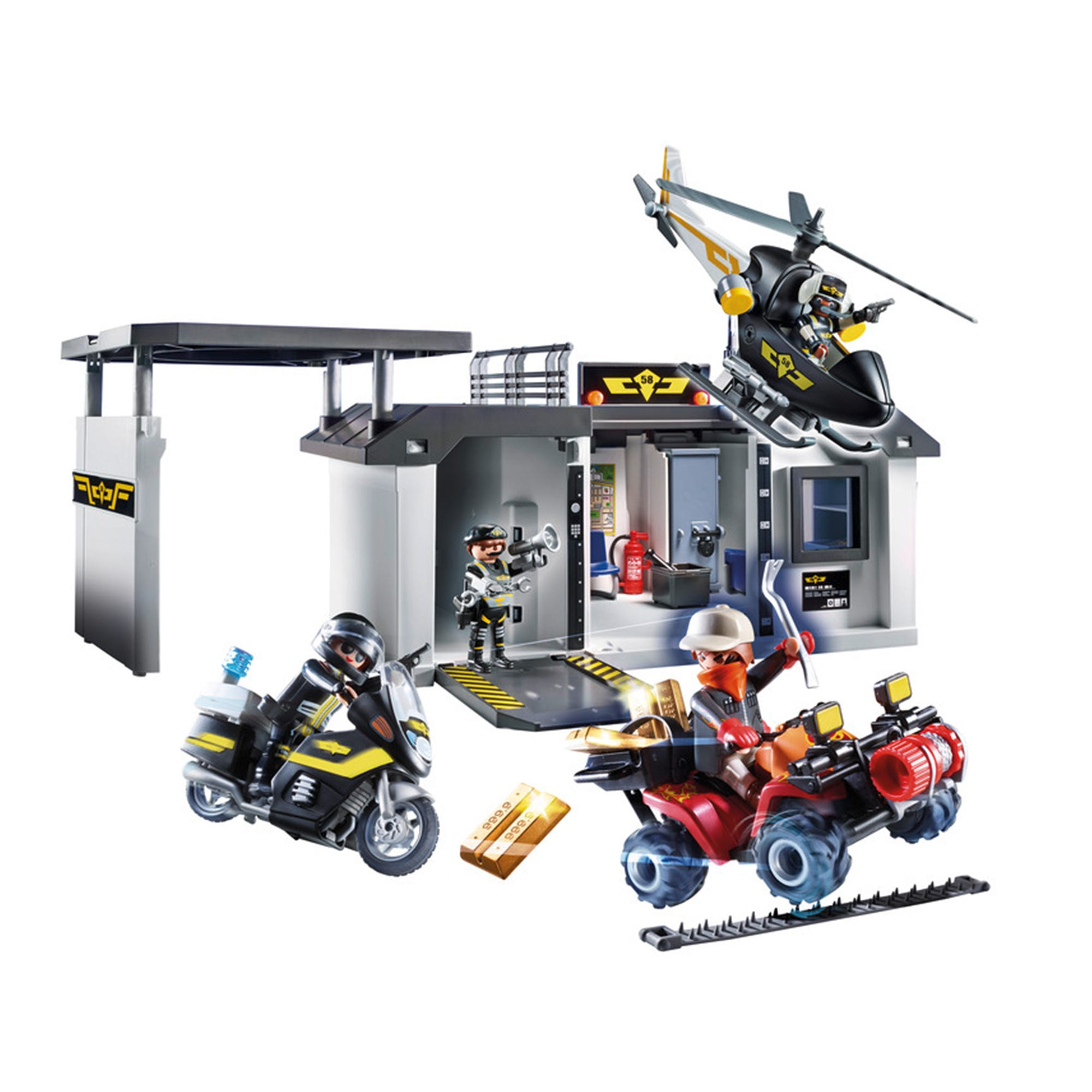 Playmobil 70338 City Action Take Along Tactical Unit Headqua
