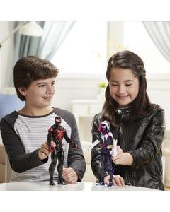 Spider-Man Maximum Venom Titan Hero Action Figure Toy, With Blast Gear-Compatible Back Port