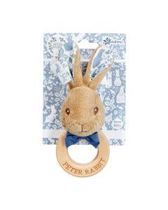 Peter Rabbit Signature Wooden Ring Rattle