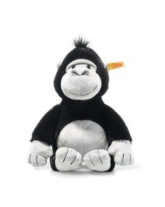 Steiff Soft Cuddly Friends Bongy Gorilla (Black/Light Grey)