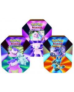 Pokemon TCG: V Forces Tin - Lucario V, Galarian Slowbro V or Mew V CASE - Assortment