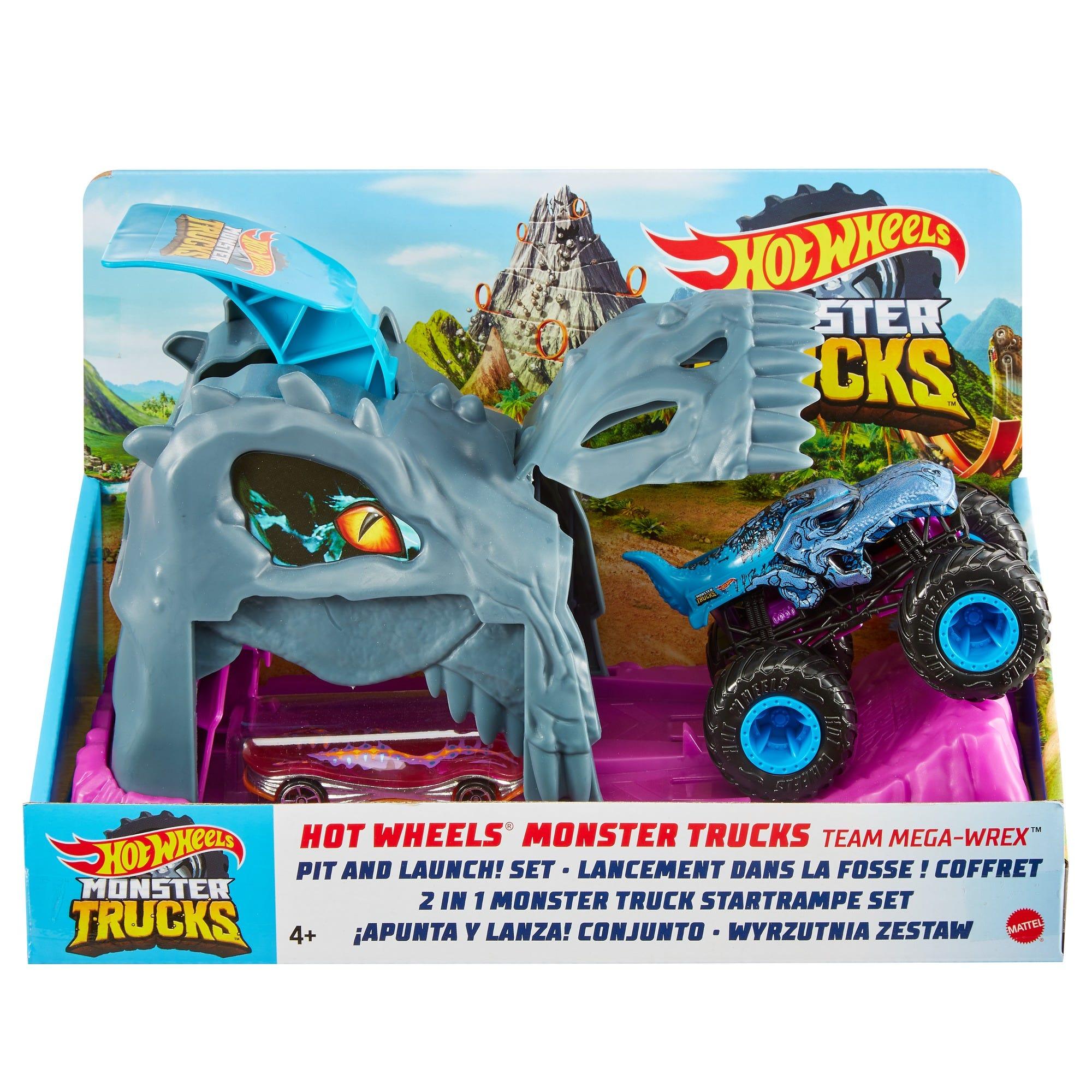 Hot Wheels Monster Trucks Pit & Launch Assortment