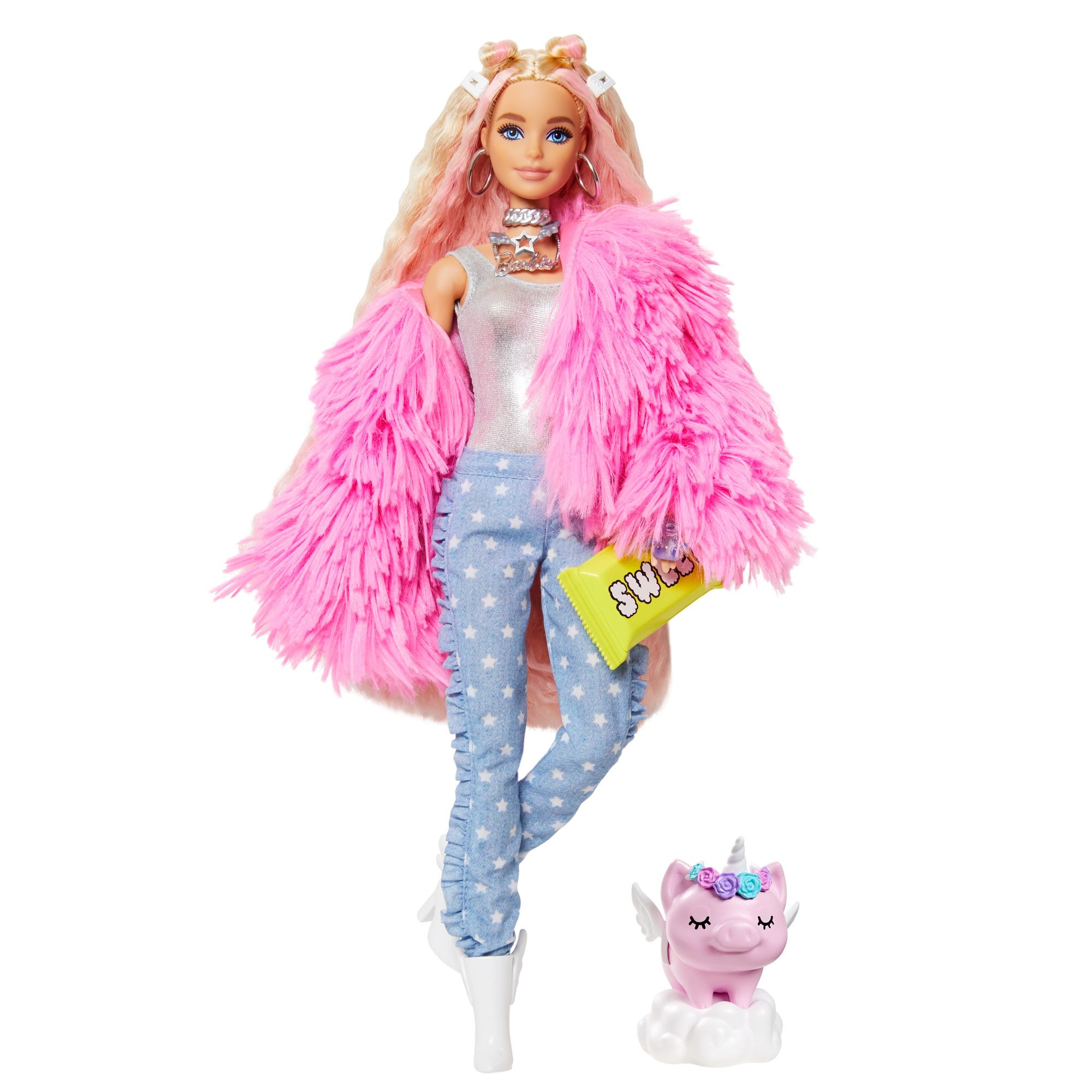 Barbie Extra Doll - Fluffy Pink Jacket