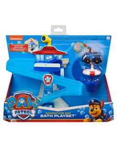 PAW Patrol Adventure Bay Bath Playset with Light-up Chase Vehicle Bath Toy