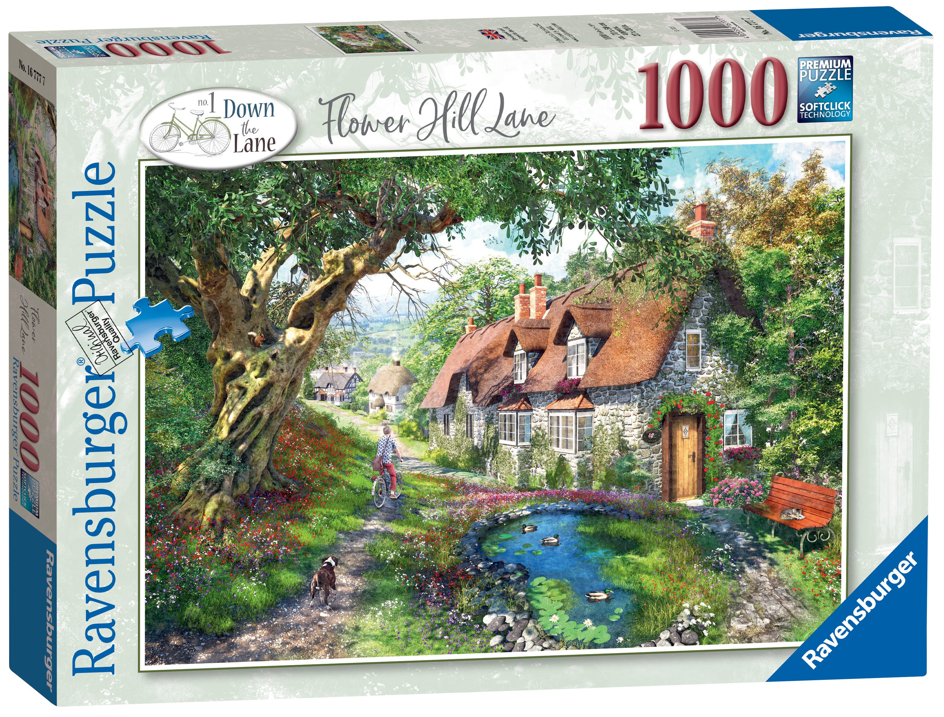 Ravensburger Down The Lane No.1, Flower Hill Lane 1000pc Jigsaw Puzzle