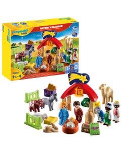 Playmobil 1.2.3 70259 Christmas Manger Advent Calendar