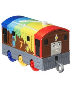 Fisher Price Small Push Along Engine Toby Rainbow Deco