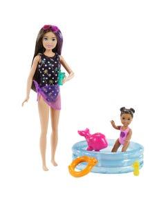 Barbie Skipper Babysitter Playset - Pool & Toddler