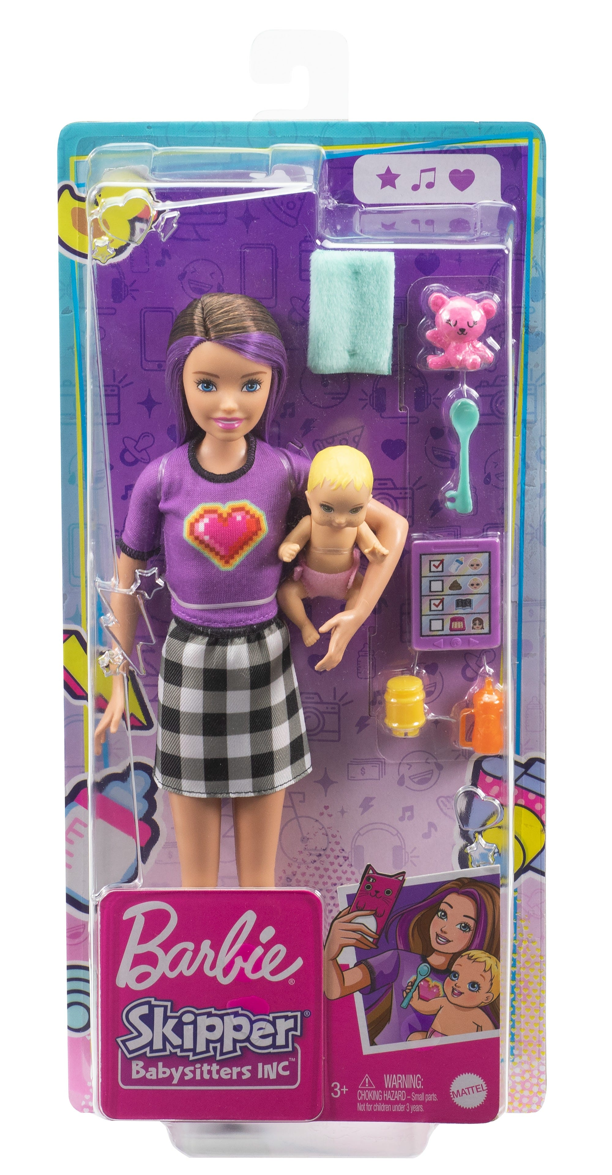 Barbie Babysitter Doll + Baby/Accy Assortment