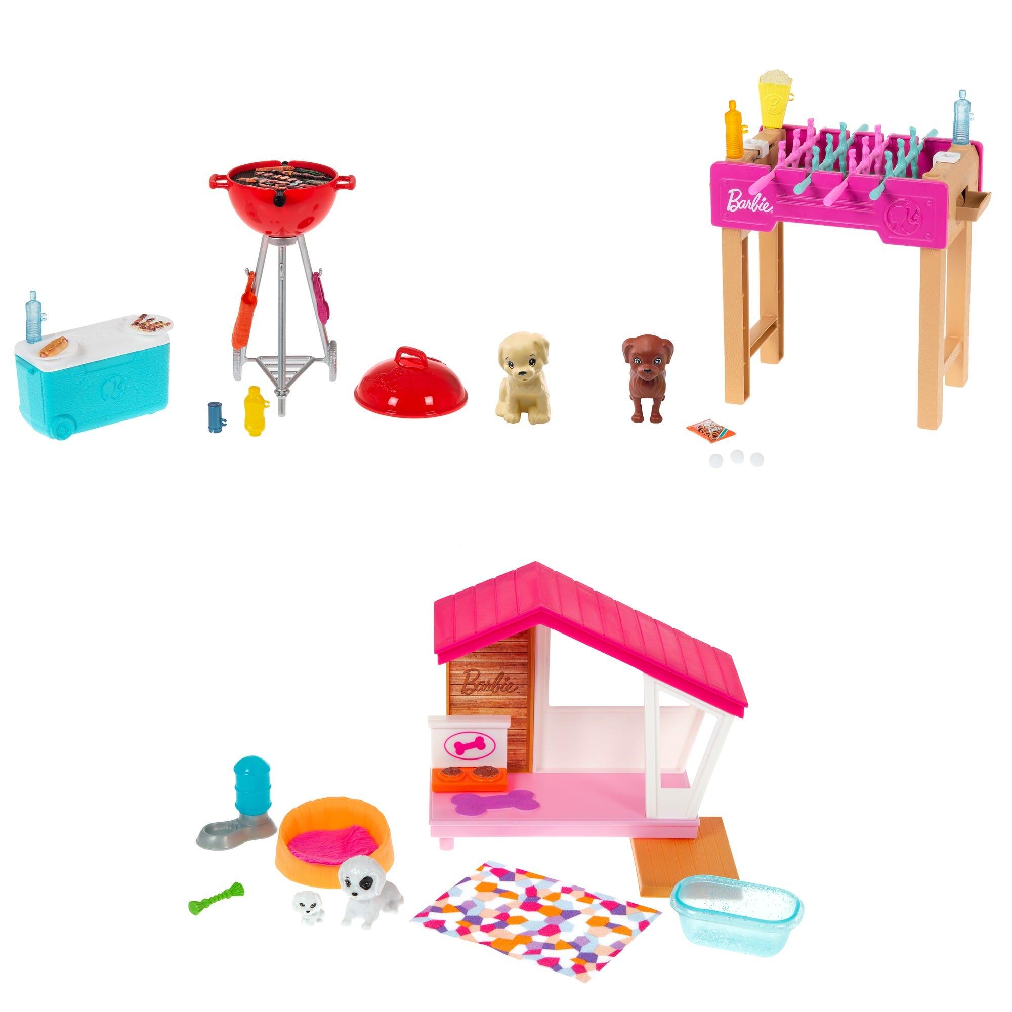 Barbie Mini Playset W/Pet Assortment