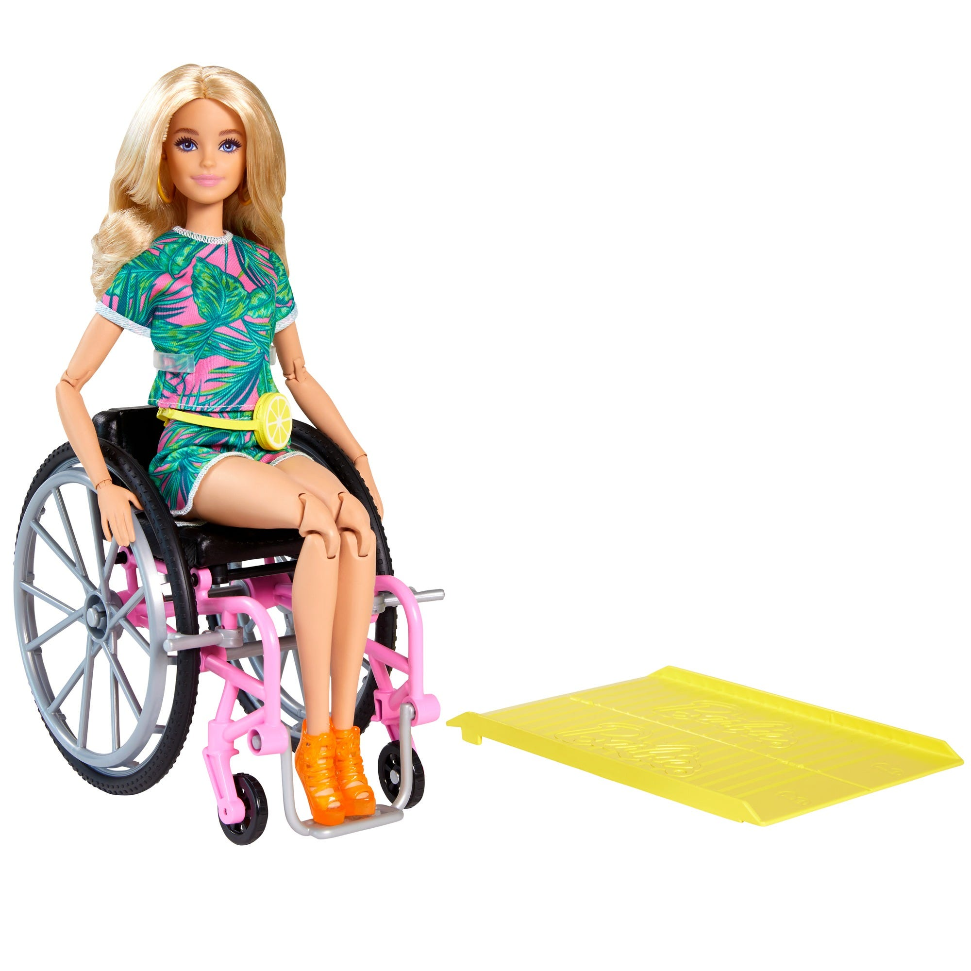 Barbie Doll with Wheelchair Accessory & Ramp