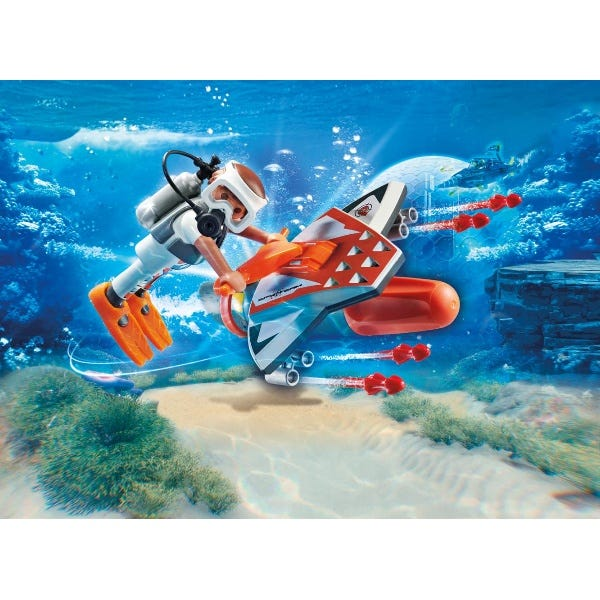 Playmobil 70004 Top Agents Spy Team Submersible With Underwater Motor