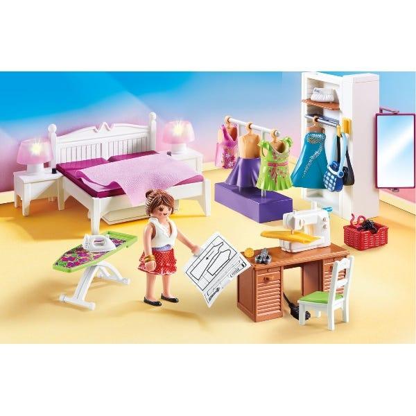 Playmobil 70208 Dollhouse Master Bedroom With Interchangable Dresses