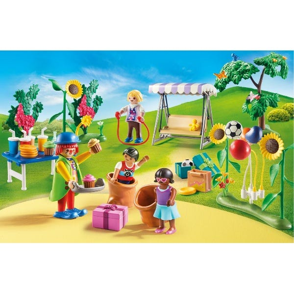Playmobil 70212 Dollhouse Childrens Garden Birthday Party