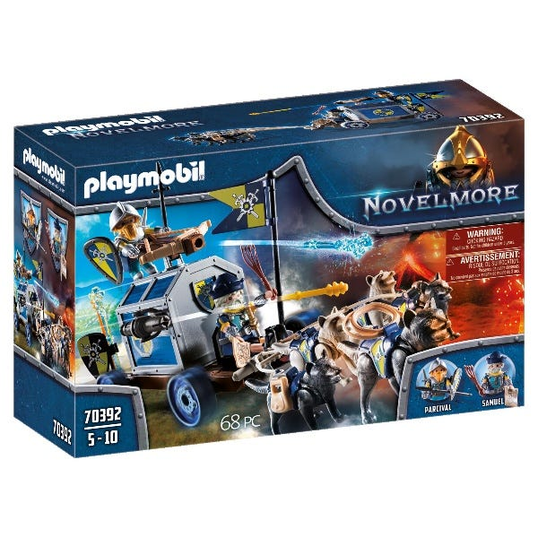 Playmobil 70392 Novelmore Knights Treasure Transport With Cannons