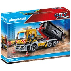 Playmobil 70444 City Action Construction Truck with Tilting Trailer