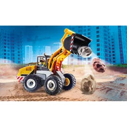 Playmobil 70445 City Action Construction Front End Loader with Movable Bucket