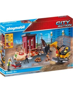Playmobil 70443 City Action Construcion Small Excavator with Movable Bucket