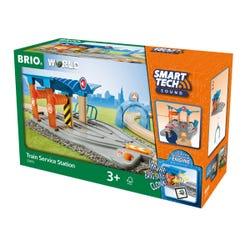 BRIO World - Smart Tech Sound Train Service Station