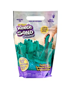 Kinetic Sand, Twinkly Teal 907g Bag of All-Natural Shimmering Sand for Squishing, Mixing and Moulding