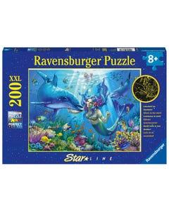Ravensburger Underwater Paradise Glow in the Dark XXL 200pc Jigsaw Puzzle