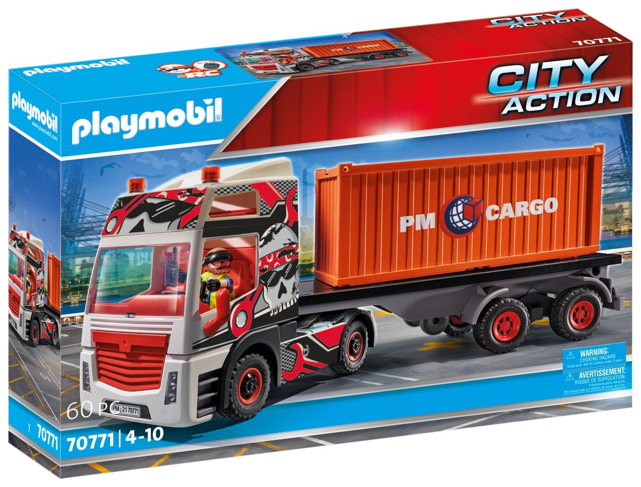 Playmobil 70771 Cargo Truck With Cargo Container