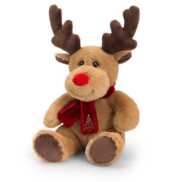 Keel Toys Keeleco Reindeer W/Scarf (20cm)