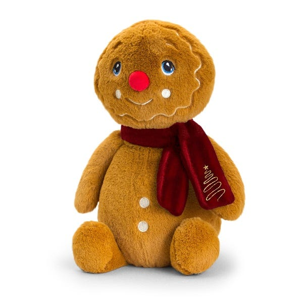 Keel Toys Keeleco Gingerbread Man W/Scarf (20cm)