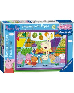 Ravensburger My First Floor Puzzle - Peppa Pig - Shopping, 16Pc Jigsaw Puzzles