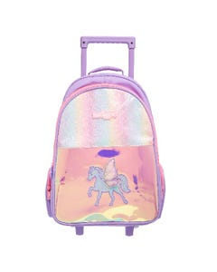 Smiggle Unicorn Lilac Suitcase on Wheels Bag - Sky Collection