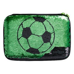 Smiggle Soccer Black Pencil Case with Mirror - Kick Collection