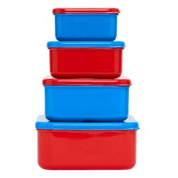 Smiggle Transport Four-in-One Food Containers - Junior Go Collection
