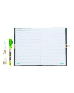 Smiggle A5 Lockable Spy Notebook with Pen