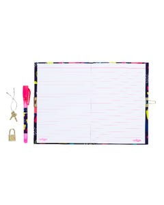 Smiggle A5 Lockable Jazzy Notebook with Pen