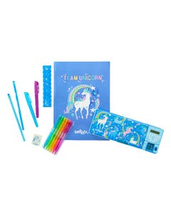 Smiggle Unicorn Stationery Set with Pop-out Calculator