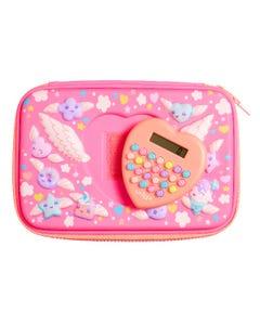 Smiggle Pink Hardtop Calculator Pencil Case