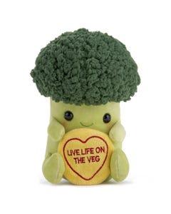 Swizzles Love Hearts Live Life On The Veg Broccoli Soft Toy