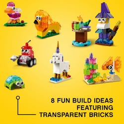 LEGO Classic Creative Transparent Bricks Set 11013