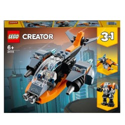 LEGO Creator 3 in 1 Cyber Drone Building Set 31111