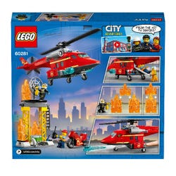LEGO City Fire Rescue Helicopter Toy 60281