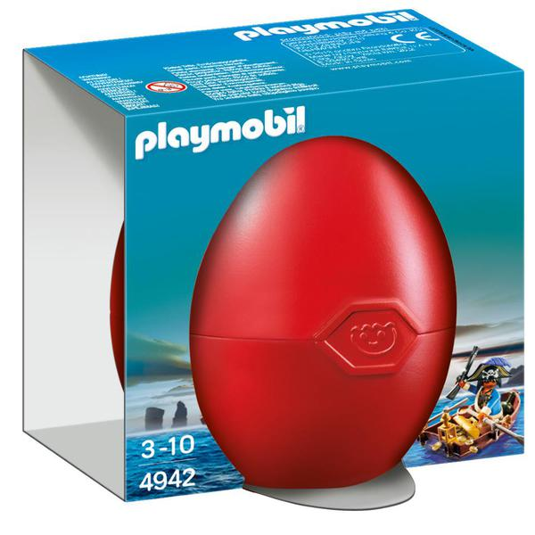 Playmobil 4942 Pirate With Rowboat Gift Egg