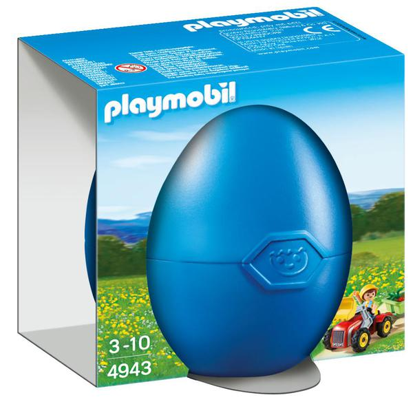 Playmobil 4943 Boy With Childrens Tractor Gift Egg