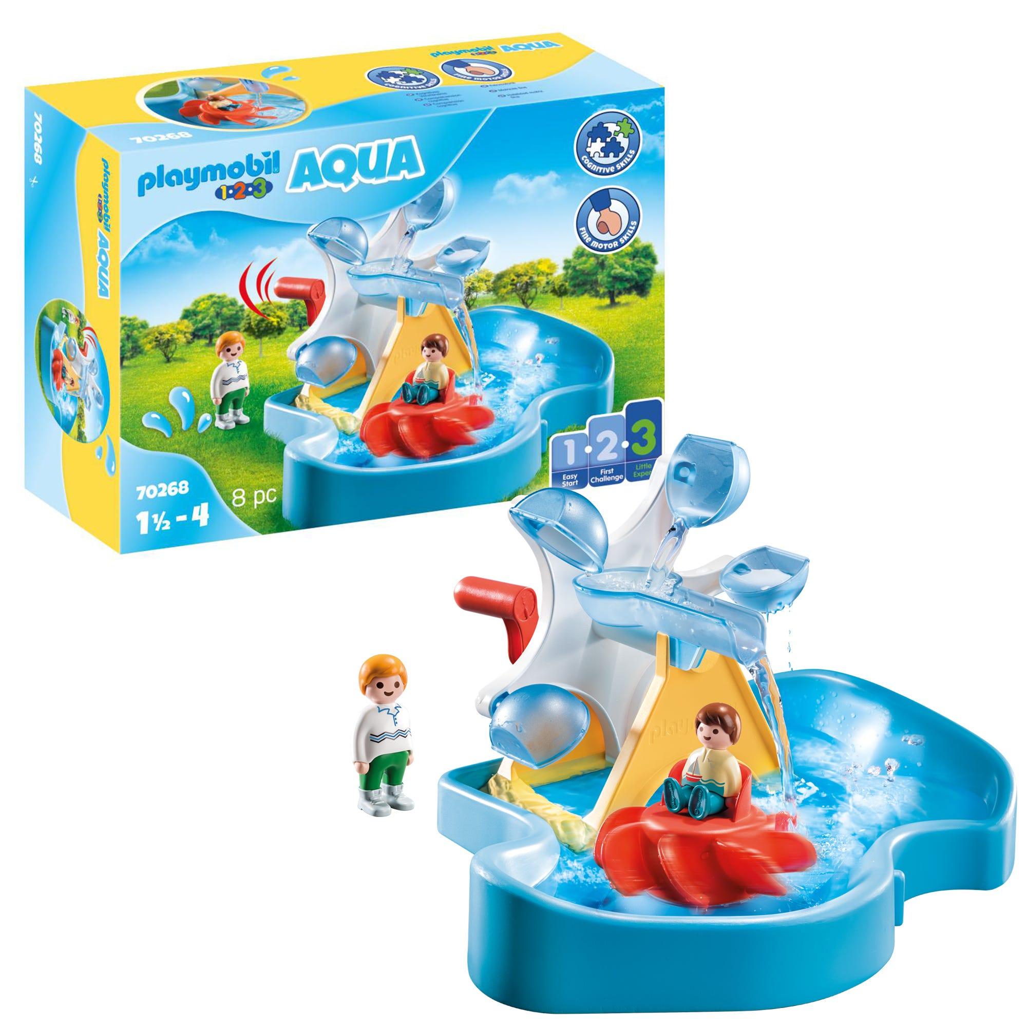 Playmobil 1.2.3 70268 AQUA Water Wheel Carousel For 18+ Months