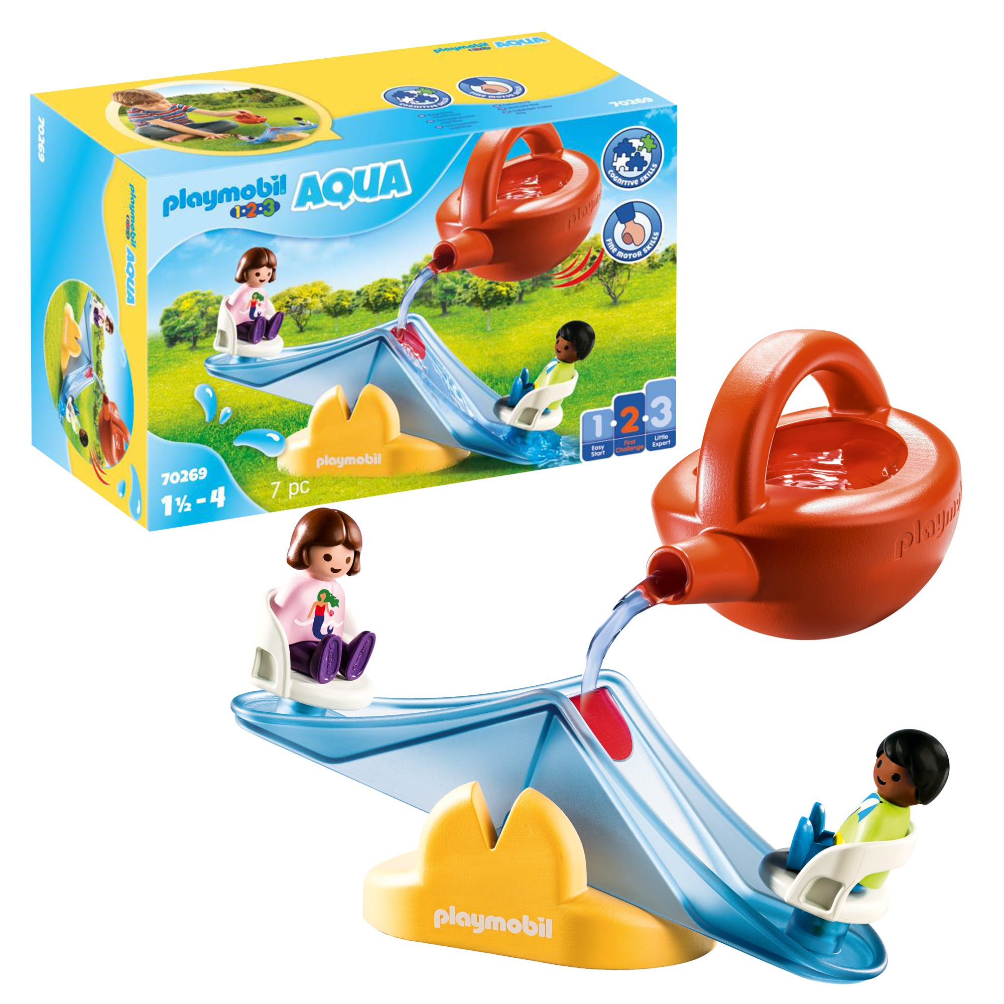 Playmobil 1.2.3 70269 AQUA Water Seesaw With Watering Can For 18+ Months