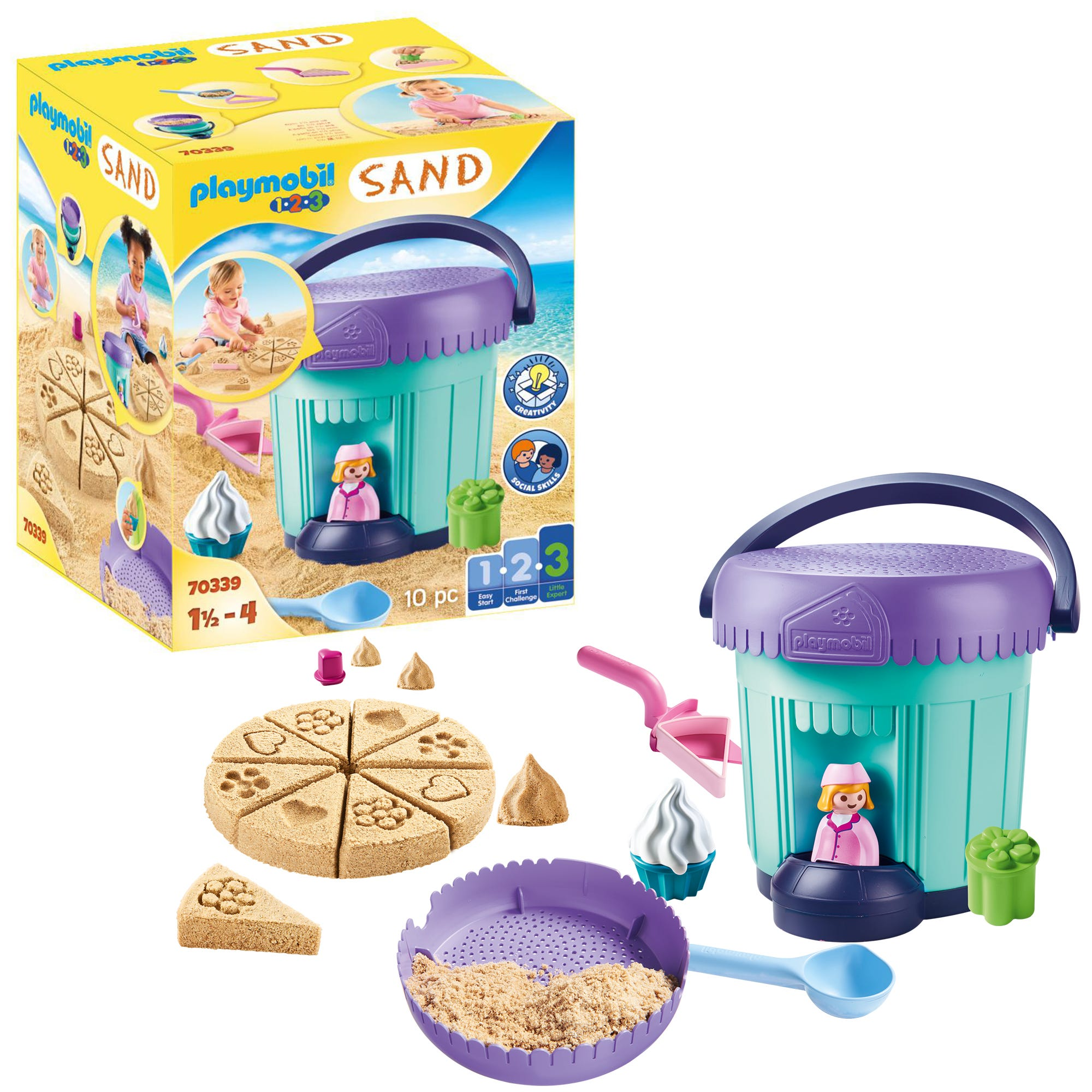 Playmobil 1.2.3 70339 SAND Bakery Sand Bucket For 18+ Months